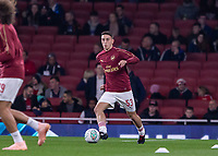 Football - 2018 / 2019 EFL Carabao (League) Cup - Fourth Round: Arsenal vs. Blackpool<br /> <br /> Julio Pleguezuelo (Arsenal FC) warms up ahead of the match and his full Arsenal debut at The Emirates.<br /> <br /> COLORSPORT/DANIEL BEARHAM