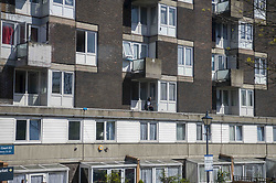 Londoners enjoying the sunny day under quarantine on balconies and gardens. London, UK, Sunday April 19, 2020. Photo by Erica Dezonne/ABACAPRESS.COM