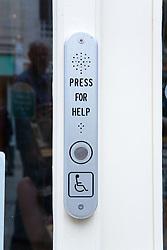 Disability access door button,