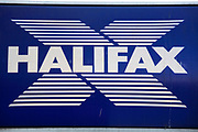 Sign for Halifax bank and building society.