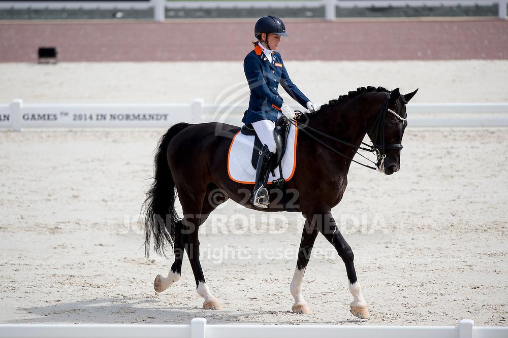 Rixt van der Horst, (NED), Uniek - Team Competition Grade II Para Dressage - Alltech FEI World Equestrian Games™ 2014 - Normandy, France.<br /> © Hippo Foto Team - Jon Stroud <br /> 25/06/14