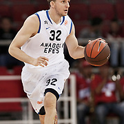 Anadolu Efes's Sinan GULER during their Two Nations Cup basketball match Anadolu Efes between Olympiacos at Abdi Ipekci Arena in Istanbul Turkey on Sunday 02 October 2011. Photo by TURKPIX