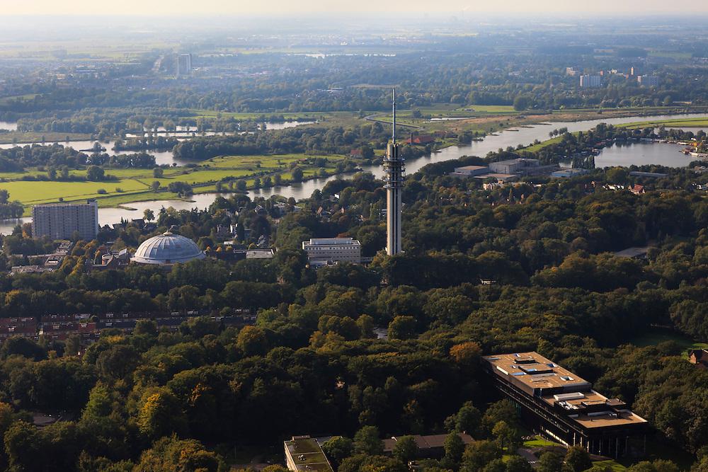 Nederland, Gelderland, Arnhem, 03-10-2010; koepel gevangenis en zendtoren.QQQ.luchtfoto (toeslag), aerial photo (additional fee required).foto/photo Siebe Swart
