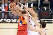 DESCRIZIONE: Berlino EuroBasket 2015 - <br /> Turkey Spain<br /> GIOCATORE: Felipe Reyes<br /> CATEGORIA: Tiro Difesa mani<br /> SQUADRA: Spain<br /> EVENTO: EuroBasket 2015 <br /> GARA: Berlino EuroBasket 2015 - Turkey vs Spain<br /> DATA: 06-09-2015 <br /> SPORT: Pallacanestro <br /> AUTORE: Agenzia Ciamillo-Castoria/I.Mancini <br /> GALLERIA: FIP Nazionali 2015 FOTONOTIZIA: Berlino EuroBasket 2015 - Turkey vs Spain