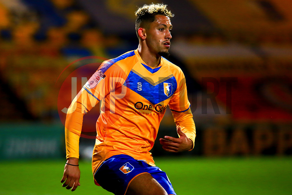 Kellan Gordon of Mansfield Town - Mandatory by-line: Ryan Crockett/JMP - 06/10/2020 - FOOTBALL - One Call Stadium - Mansfield, England - Mansfield Town v Lincoln City - Leasing.com Trophy