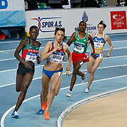 Bronze medal Elena Kofanova (2ndL) competes in the Women's 800m final at the during the IAAF World Indoor Championships at the Atakoy Athletics Arena, Istanbul, Turkey. Photo by TURKPIX