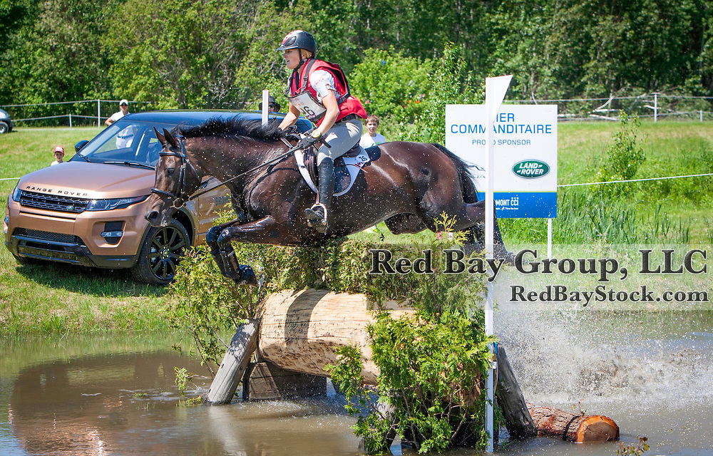Jessica Phoenix (CAN) and A Little Romance at the 2014 Jaguar Land Rover Bromont International Three Day Event in Bromont, Quebec.