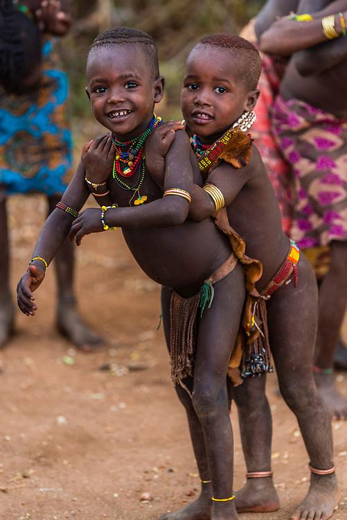 Hamer tribe girls, Omo Valley, Ethiopia.