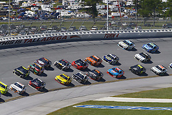 April 29, 2018 - Talladega, Alabama, United States of America - The Monster Energy NASCAR Cup Series cars race off turn four during the GEICO 500 at Talladega Superspeedway in Talladega, Alabama. (Credit Image: © Chris Owens Asp Inc/ASP via ZUMA Wire)