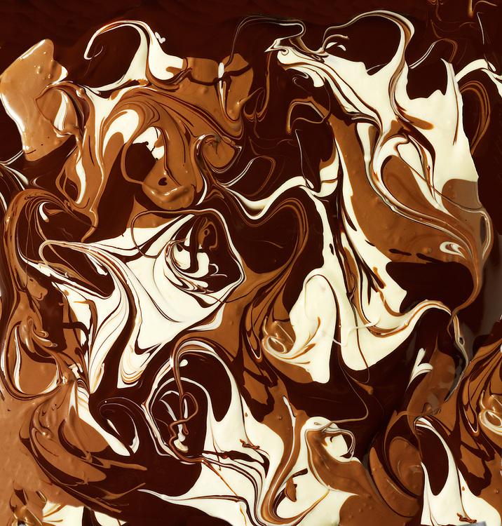 Plain, Milk & White chocolate swirls