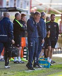 Dunfermline's manager Allan Johnston. Dunfermline 1 v 3 Dundee United, Scottish Championship game played 10/9/2016 at East End Park.