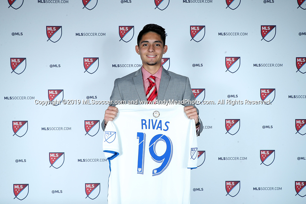 CHICAGO, IL - JANUARY 11: Sergio Rivas was taken with the 26th overall pick by the San Jose Earthquakes. The MLS SuperDraft 2019 presented by adidas was held on January 11, 2019 at McCormick Place in Chicago, IL.