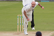Chris Rushworth bowling during the Specsavers County Champ Div 2 match between Durham County Cricket Club and Leicestershire County Cricket Club at the Emirates Durham ICG Ground, Chester-le-Street, United Kingdom on 20 August 2019.