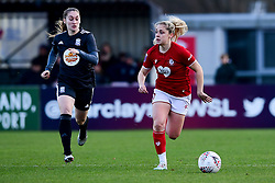 Poppy Pattinson of Bristol City is marked by Claudia Walker of Birmingham City Women - Mandatory by-line: Ryan Hiscott/JMP - 08/12/2019 - FOOTBALL - Stoke Gifford Stadium - Bristol, England - Bristol City Women v Birmingham City Women - Barclays FA Women's Super League