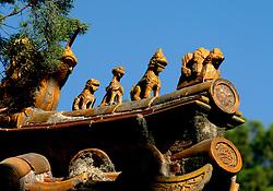 18-10-2007 ALGEMEEN: VOORBEREIDINGEN OLYMPISCHE SPELEN BEIJING 2008: CHINA<br /> De Verboden Stad - dakruiters<br /> ©2007-WWW.FOTOHOOGENDOORN.NL
