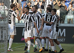 August 19, 2017 - Turin, Italy - Juventus team during Serie A match between Juventus v Cagliari, in Turin, on August 19, 2017  (Credit Image: © Loris Roselli/NurPhoto via ZUMA Press)