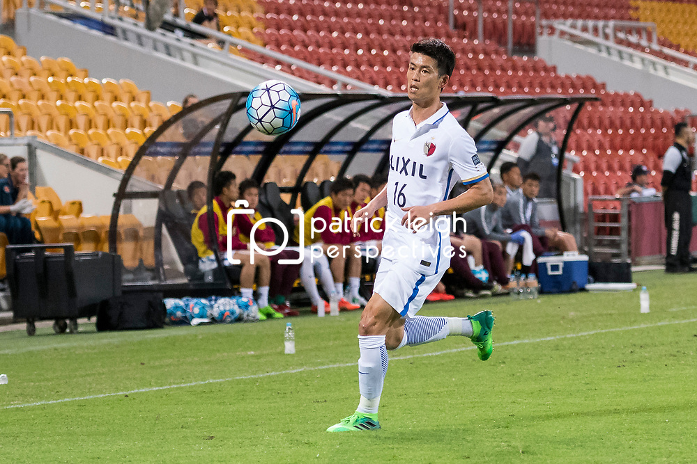 BRISBANE, AUSTRALIA - APRIL 12: Yamamoto Shuto of Kashima in action during the Asian Champions League Group Stage match between the Brisbane Roar and Kashima Antlers at Suncorp Stadium on April 12, 2017 in Brisbane, Australia. (Photo by Patrick Kearney/Brisbane Roar)