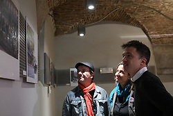 March 30, 2019 - Madrid, Spain - Iñigo Errejon (R) seen listening to the explanations of photographer Javier Marquerie (L) during the exhibition..The candidate of Mas Madrid to the Community, Iñigo Errejon, visits the exhibition ''Madrid, how good you are!'' by photographer Javier Marquerie. (Credit Image: © Jesus Hellin/SOPA Images via ZUMA Wire)