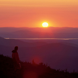 White Cap Mountain, ME. Piscataquis Mountains. Northern Forest. Taking in sunset on the Appalachian Trail.