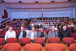 29.01.2019, Stadtsaal, Lienz, AUT, TVBO Wahl 2019, Wahlwiederholung, im Bild Max Passler, Sport Passler, Peter Wibmer, Hamacher Hotel & Beteiligungs GmbH, Heinz Schultz, Großglockner Mountain Ressort, Maximilian Schultz, Bergbahnan Kals am Großglockner, Rudi Hirschhuber, Andreas Köll // during the redial of the TVBO election at the Stadtsaal in Lienz, Austria on 2019/01/29. EXPA Pictures © 2019, PhotoCredit: EXPA/ Johann Groder