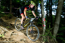 Luka Tavcar during Cross Country XC Mountain bike race for Slovenian National Championship in Kamnik, on July 12, 2015 in Kamnik,  Slovenia. Photo by Vid Ponikvar / Sportida