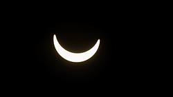 August 21, 2017 - Boynton Beach, Florida, U.S. - A partial eclipse viewed by students at Christa McAuliffe Middle School in Boynton Beach, Florida on August 21, 2017. (Credit Image: © Allen Eyestone/The Palm Beach Post via ZUMA Wire)