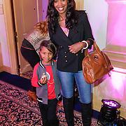 NLD/Amsterdam/20120919- 4 Jarig bestaan ShopVip, Jasmine Sendar en zoon Sol