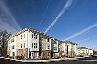 Architectural exterior photo of Maryland apartment building The Nines at Gleneagles in St. Charles Maryland by building photographer Jeffrey Sauers of Commercial Photographics
