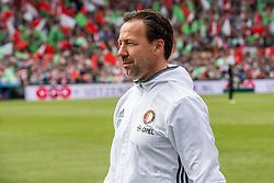 14-05-2017 NED: Kampioenswedstrijd Feyenoord - Heracles Almelo, Rotterdam<br /> In een uitverkochte Kuip pakt Feyenoord met een 3-1 overwinning het landskampioenschap / Coach Jean-Paul van Gastel