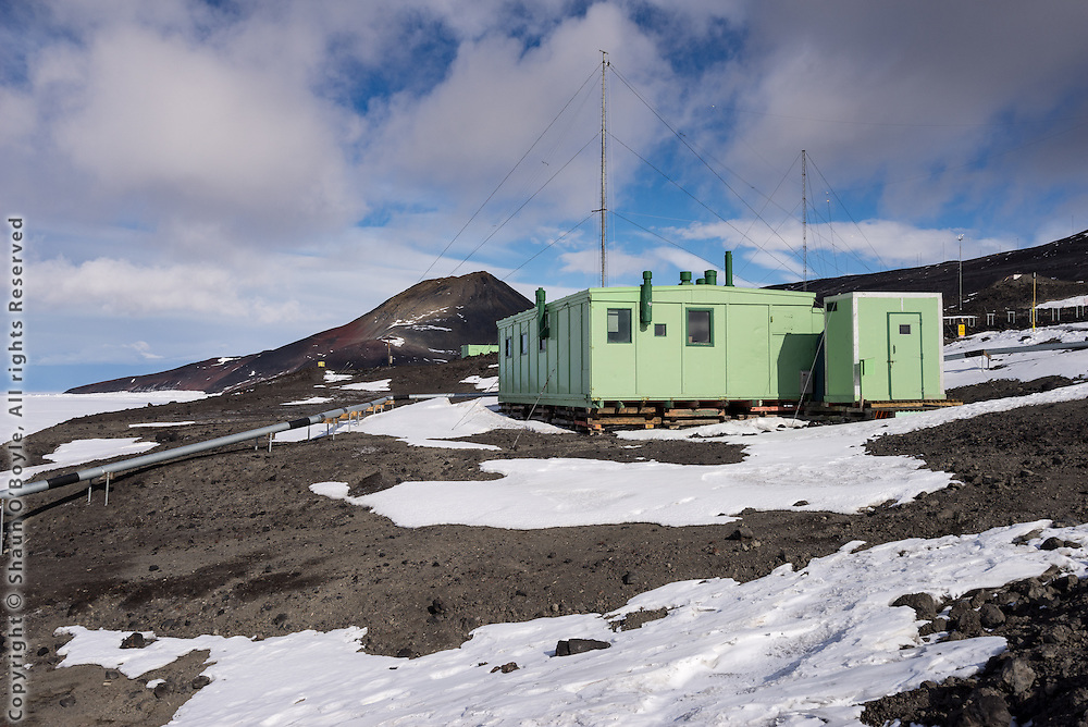 A Hut, also known as the TAE (Trans-Antarctic Expedition) Hut, at New Zealand's Scott Base