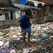 A rag picker. Dharavi, August 2007