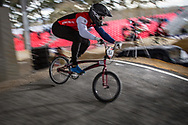 #164 (ISIDORE Quillan) GBR at the 2018 UCI BMX Superscross World Cup in Saint-Quentin-En-Yvelines, France.