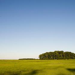 A salt marsh near the Parker River in Newbury, Massachusetts.