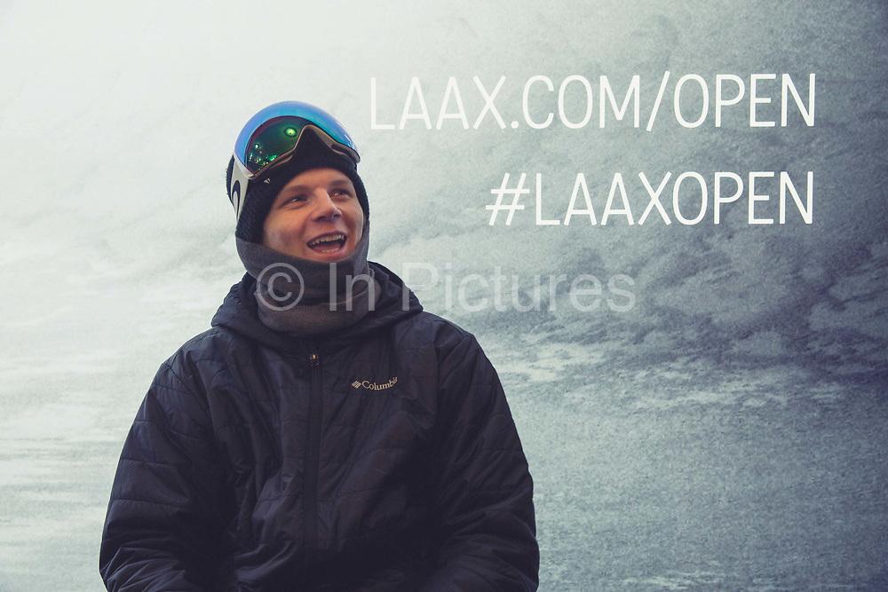 British Olympic Freestyle Snowboarder Jamie Nicholls during the Laax Open on 17th January 2017 in Laax Ski Resort, Switzerland.