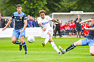 Leeds United Helder Costa (17) takes a shot during the Pre-Season Friendly match between Tadcaster Albion and Leeds United at i2i Stadium, Tadcaster, United Kingdom on 17 July 2019.