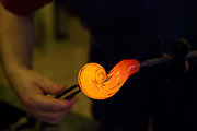 Glass making in the old town; Prague, Czech Republic.