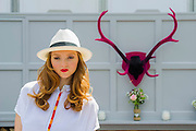 Lily Cole on the House of Fraser stand. The Chelsea Flower Show 2014. The Royal Hospital, Chelsea, London, UK.  19 May 2014.