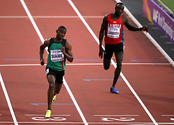 Zambia's Sydney Siame in action in the Men's 200m heats during day four of the 2017 IAAF World Championships at the London Stadium.