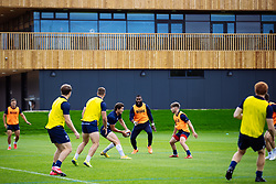 Piers O'Conor is challenged by Semi Radradra and Harry Randall as Bristol Bears start to use their new almost completed Training centre - Rogan/JMP - 08/07/2020 - RUGBY UNION - Beggar Bush Lane - Bristol, England.