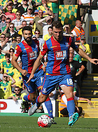 James McArthur on the attack during the Barclays Premier League match between Norwich City and Crystal Palace at Carrow Road, Norwich, England on 8 August 2015. Photo by Craig McAllister.