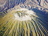 Aerial view of volcano Bromo in Indonesia.