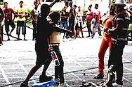Dancing in the street in Manzanillo, Granma, Cuba.