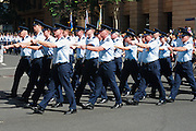 Air force personnel marching in 2005 ANZAC day parade, Brisbane <br />
