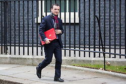 London, UK. 29th January, 2019. Alun Cairns MP, Secretary of State for Wales, leaves 10 Downing Street following a Cabinet meeting on the day of votes in the House of Commons on amendments to Prime Minister Theresa May's final Brexit withdrawal agreement which could determine the content of the next stage of negotiations with the European Union.