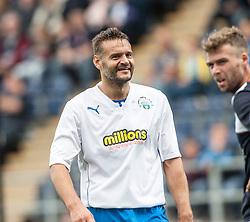 Morton's Mark McLaughlan.<br /> Falkirk 3 v 0 Morton, Scottish Championship 17/8/2013.<br /> ©Michael Schofield.