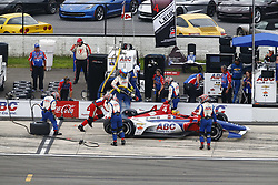 August 19, 2018 - Long Pond, Pennsylvania, United Stated - MATHEUS LEIST (4) of Brazil take to the track for the ABC Supply 500 at Pocono Raceway in Long Pond, Pennsylvania. (Credit Image: © Chris Owens Asp Inc/ASP via ZUMA Wire)