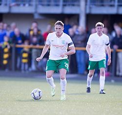 Hibernian's Scott Allan.<br /> Alloa Athletic 2 v 1 Hibernian, Scottish Championship game played 30/8/2014 at Alloa Athletic's home ground, Recreation Park, Alloa.