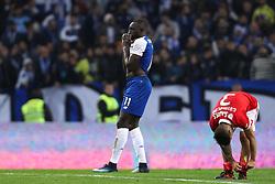December 1, 2017 - Porto, Porto, Portugal - Porto's Malian forward Moussa Marega (L) reacts after missing a goal during the Premier League 2016/17 match between FC Porto and SL Benfica, at Dragao Stadium in Porto on December 1, 2017. (Credit Image: © Dpi/NurPhoto via ZUMA Press)