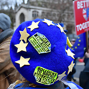 Last day to Stop Brexit,protest in Parliament Square on 30th January 2020, London UK.