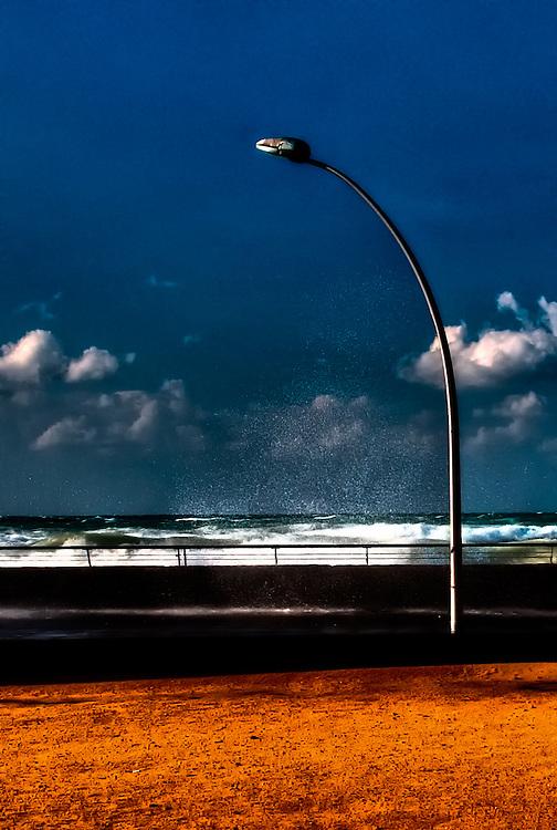 Lamp post sand beach